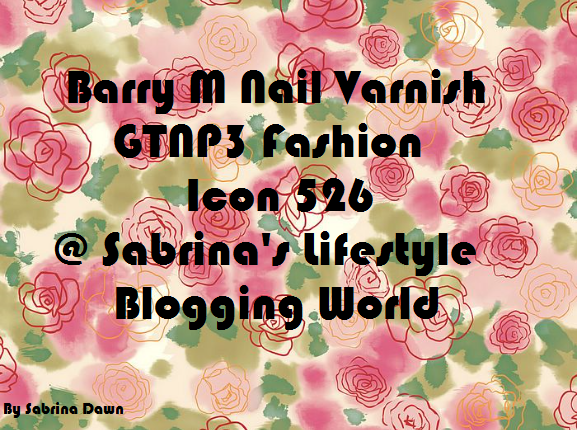 Review: Barry M Nail Varnish – GTNP3 Fashion Icon 526