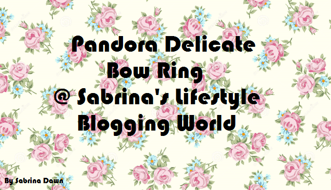 Review: Pandora Delicate Bow Ring