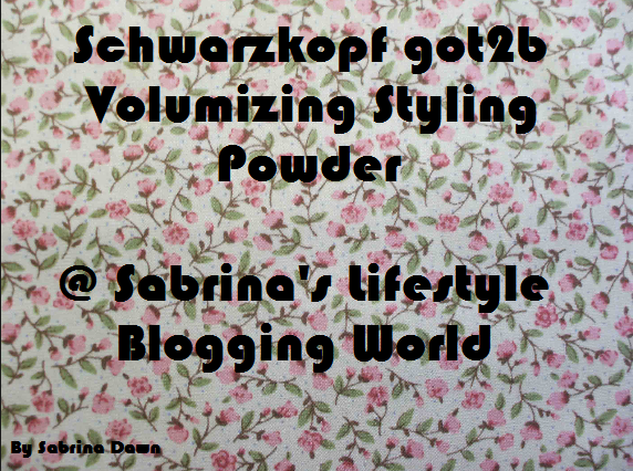 Review: Schwarzkopf got2b POWDER'ful
